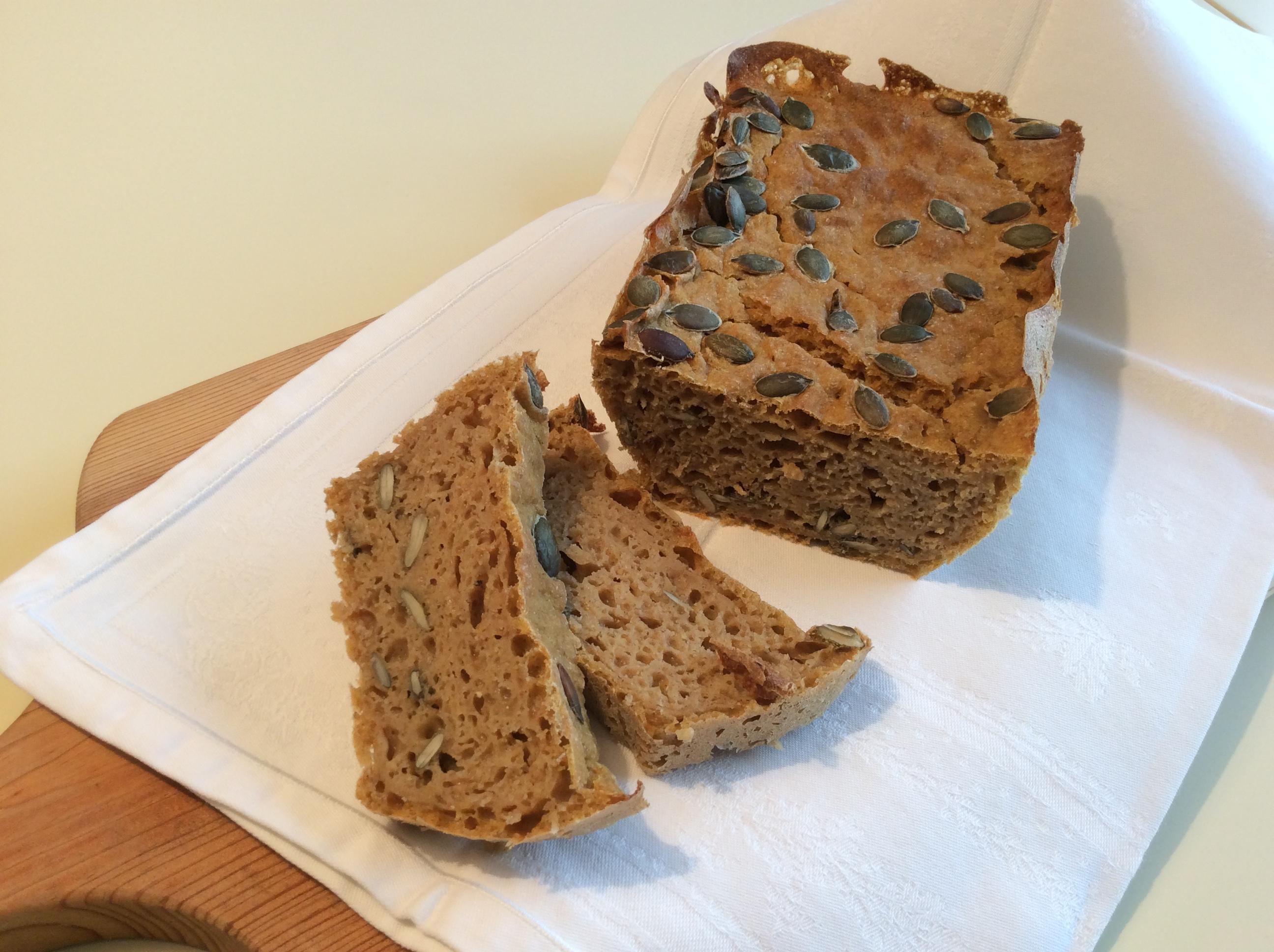 Pão de centeio e abóbora