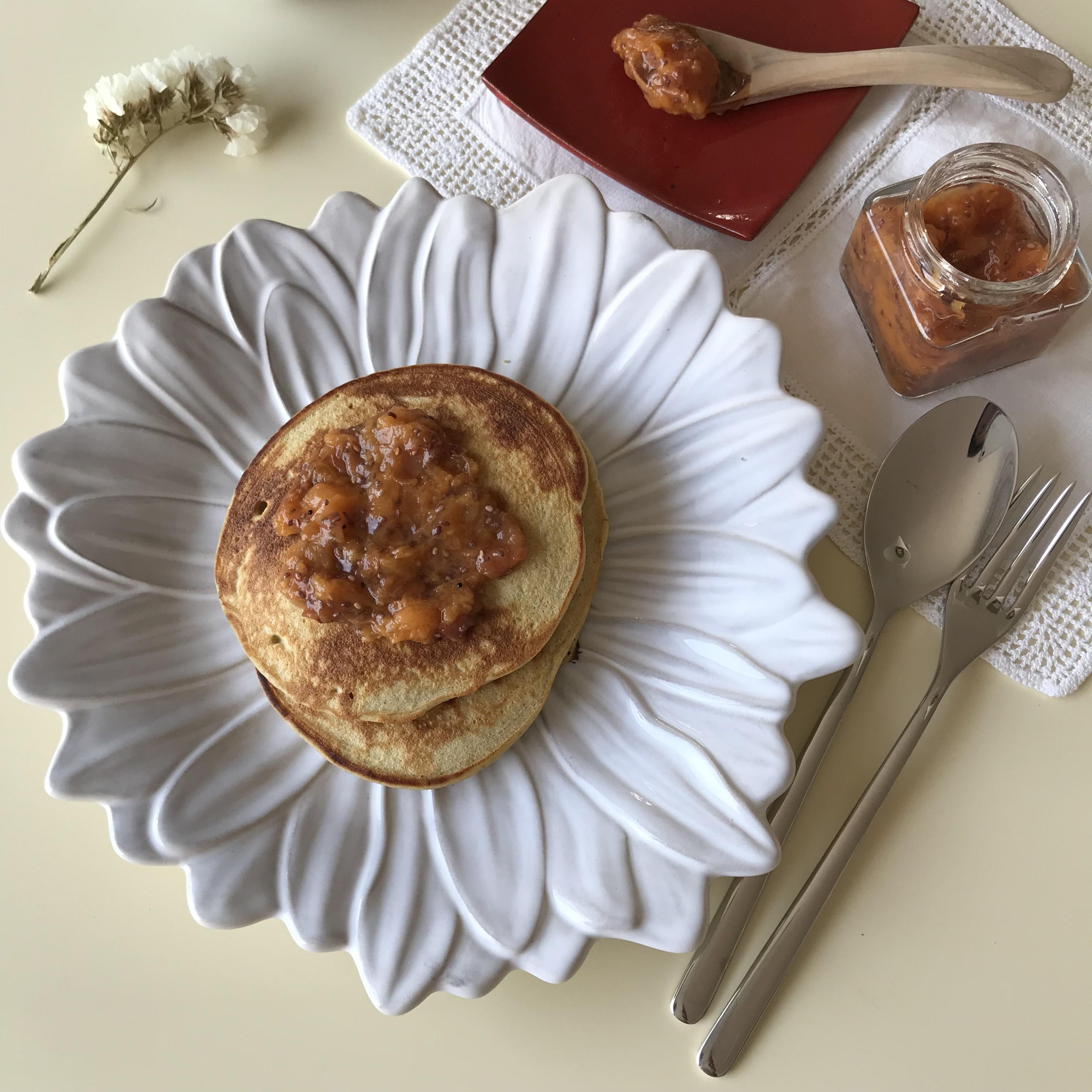 Panquecas trigo sarraceno e coco